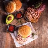 Hamburger pulled pork Royalty Free Stock Photos