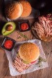 Hamburger pulled pork Royalty Free Stock Photography