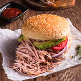 Hamburger pulled pork Royalty Free Stock Photography