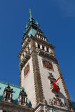Hamburger Rathaus (het Stadhuis van Hamburg/Stadhuis) Royalty-vrije Stock Foto's