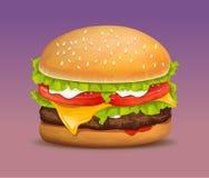 Hamburger realistico di vettore illustrazione di stock