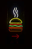 Hamburger Restaurant Sign Stock Images