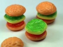 hamburger słodyczami Zdjęcie Royalty Free