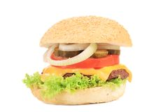 Hamburger saboroso Imagem de Stock Royalty Free