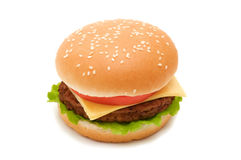 Hamburger saboroso Foto de Stock Royalty Free