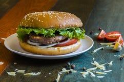 Hamburger saboroso fotografia de stock royalty free