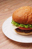 Hamburger. With salad and cheese sauce Royalty Free Stock Photography
