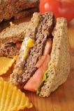 Hamburger sandwich Stock Images