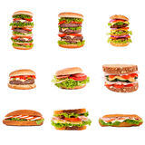 Hamburger and sandwich Royalty Free Stock Photography