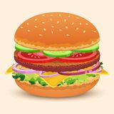 Hamburger sandwich print royalty free illustration