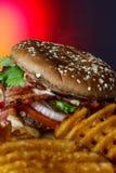 Hamburger saporito Fotografie Stock Libere da Diritti