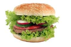 Hamburger saporito Fotografia Stock Libera da Diritti