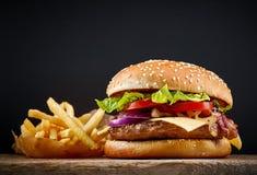 Hamburger savoureux frais Photographie stock libre de droits