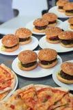Hamburger savoureux Russie Photos libres de droits
