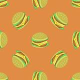 Hamburger Seamless Pattern Royalty Free Stock Photo