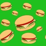 Hamburger senza cuciture del modello Fotografia Stock Libera da Diritti