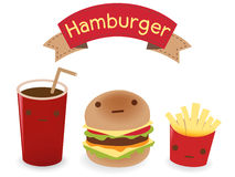Hamburger Set. Vector File EPS10 Stock Photography