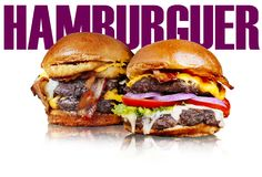 Hamburger sign. Hamburger applied to notice design or promotional sign stock photo