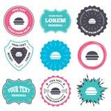 Hamburger sign icon. Fast food symbol. Stock Images