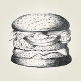 Hamburger. Sketch illustration of a hamburger Stock Image