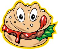 Hamburger is smilinng Royalty Free Stock Photos