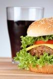 Hamburger with soda Royalty Free Stock Photo