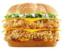Hamburger spécial de champignon de couche Image stock