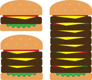 Hamburger Stacks Stock Photo