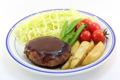 Hamburger steak Royalty Free Stock Photos