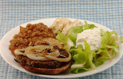 Hamburger Steak with Onions Stock Photos