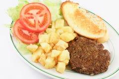 Hamburger Steak and Potatoes Stock Image