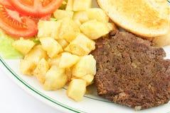 Hamburger Steak and Potatoes Stock Photos