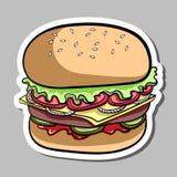 Hamburger Sticker Royalty Free Stock Images