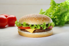 Hamburger still life Stock Photography