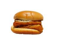 Hamburger su bianco Immagini Stock Libere da Diritti