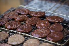 Hamburger succosi Fotografie Stock Libere da Diritti