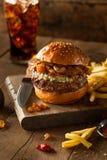 Hamburger succoso del formaggio blu Fotografie Stock