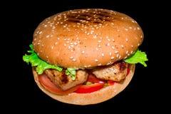 Hamburger succoso molto delizioso fotografie stock libere da diritti