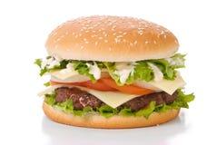 Hamburger sugoso Fotografie Stock Libere da Diritti