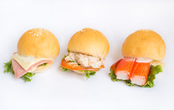 Hamburger sur le fond blanc Image stock