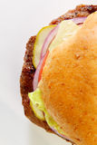 Hamburger sur le pain de blé Image stock