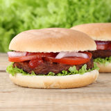 Hamburger with tomatoes Royalty Free Stock Images