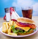 Hamburger und Fischrogen stockfoto