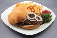 Hamburger und Fischrogen Lizenzfreie Stockfotos