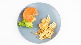 Hamburger und Fischrogen
