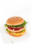 Hamburger und Servietten Stockfoto
