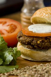 Hamburger végétal photographie stock