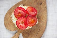 Hamburger végétarien sur le conseil en bois Photographie stock libre de droits