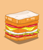 Hamburger. Vector Royalty Free Stock Photos
