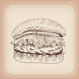 Hamburger vector hand drawn Stock Photos